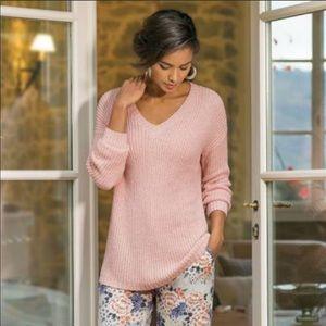 Soft Surroundings Oversized Boyfriend Sweater